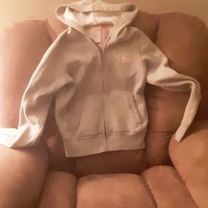 Pink V.S. full zipper graphic hoodie